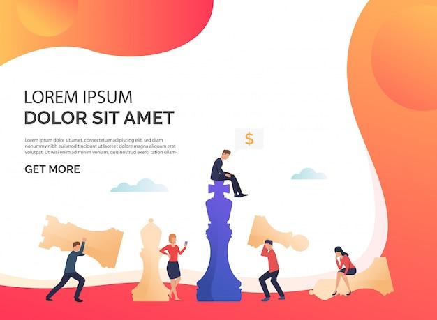 Illustrazione di presentazione di strategia aziendale rosso Vettore gratuito