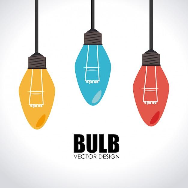 Illustrazione di progettazione della lampadina Vettore gratuito