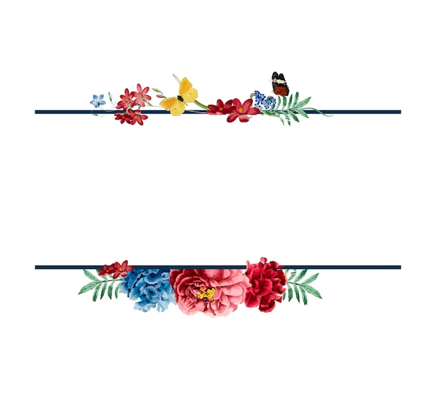 Illustrazione di progettazione di carta cornice floreale Vettore gratuito
