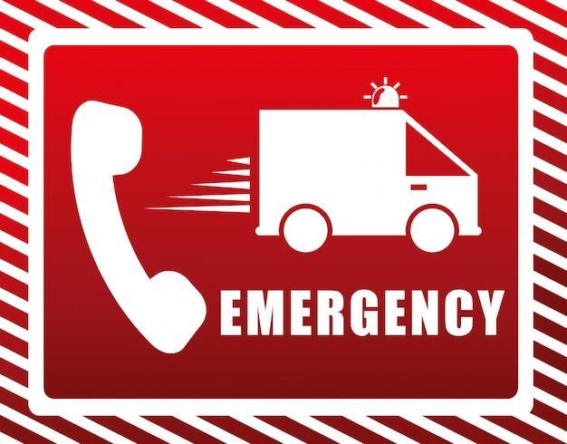 Illustrazione di progettazione di emergenza Vettore Premium