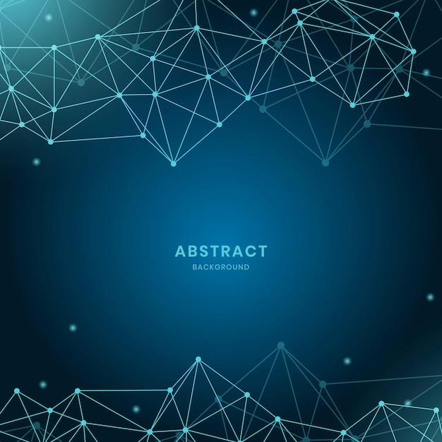 Illustrazione di rete neurale blu Vettore gratuito