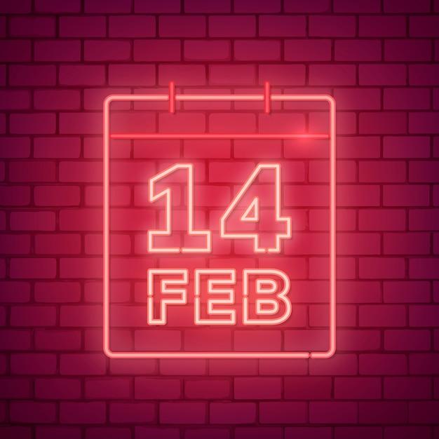 Illustrazione di san valentino al neon Vettore gratuito