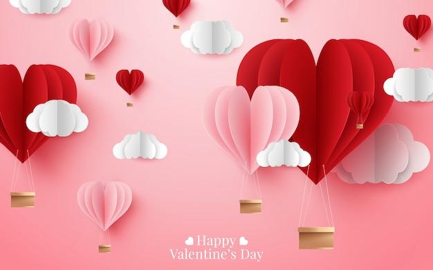 Illustrazione di san valentino felice Vettore Premium