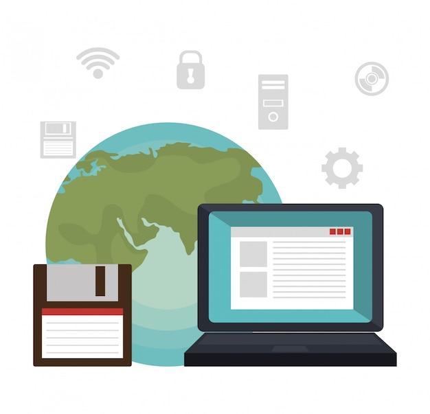 Illustrazione di servizi tecnologici Vettore gratuito