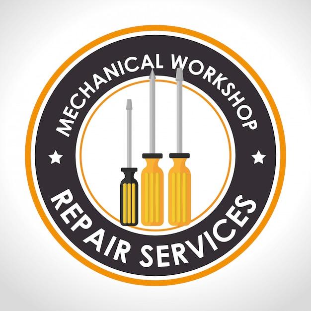 Illustrazione di servizio di riparazione Vettore gratuito