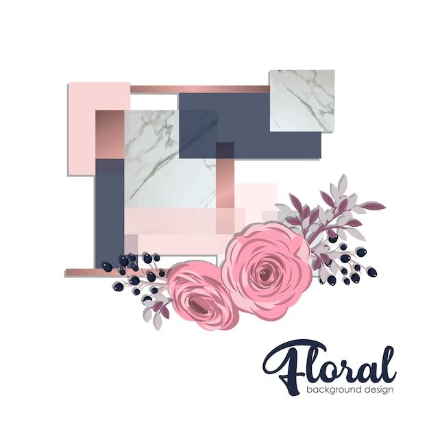Illustrazione di sfondo di fiori Vettore gratuito