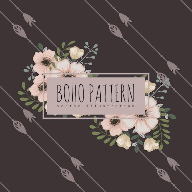 Illustrazione di sfondo di fiori Vettore Premium
