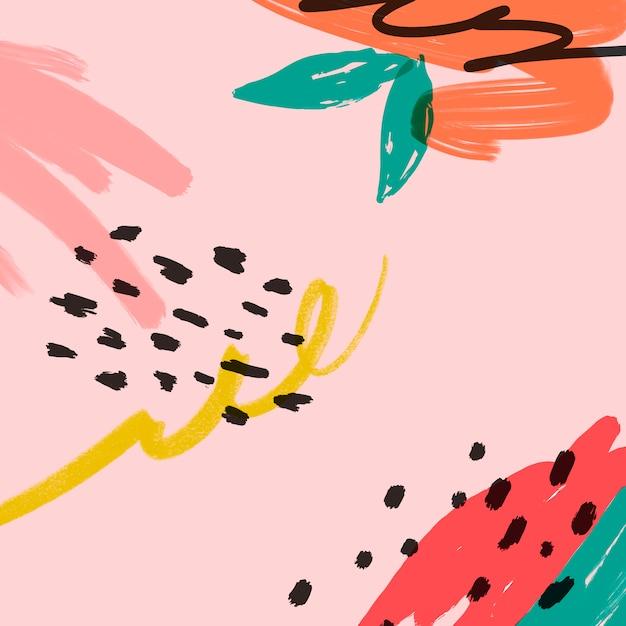 Illustrazione di sfondo estate memphis Vettore gratuito