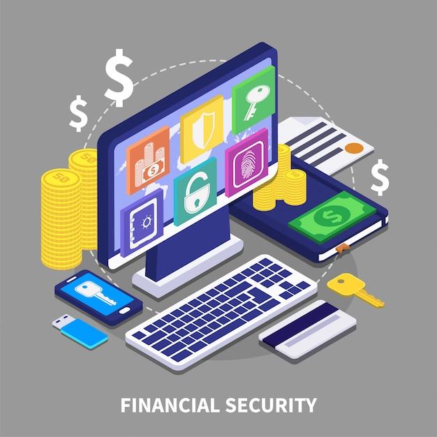 Illustrazione di sicurezza finanziaria Vettore gratuito