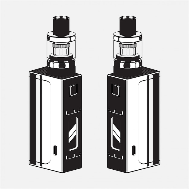 Illustrazione di sigaro elettrico vape Vettore Premium