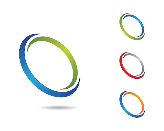 Illustrazione di simbolo del cerchio Vettore Premium