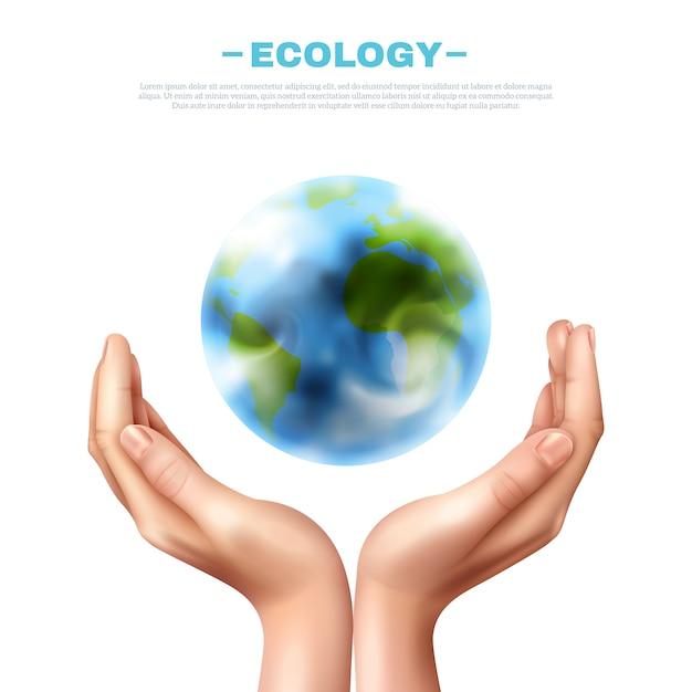 Illustrazione di simbolo di ecologia Vettore gratuito