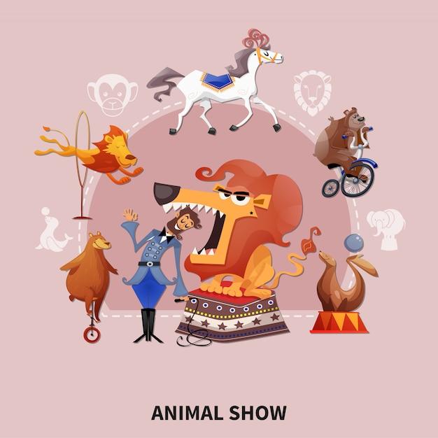 Illustrazione di spettacoli animali Vettore gratuito