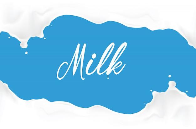 Illustrazione di spruzzi di latte Vettore Premium