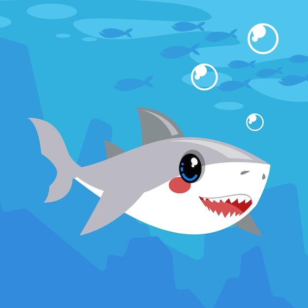 Illustrazione di squalo bambino Vettore gratuito