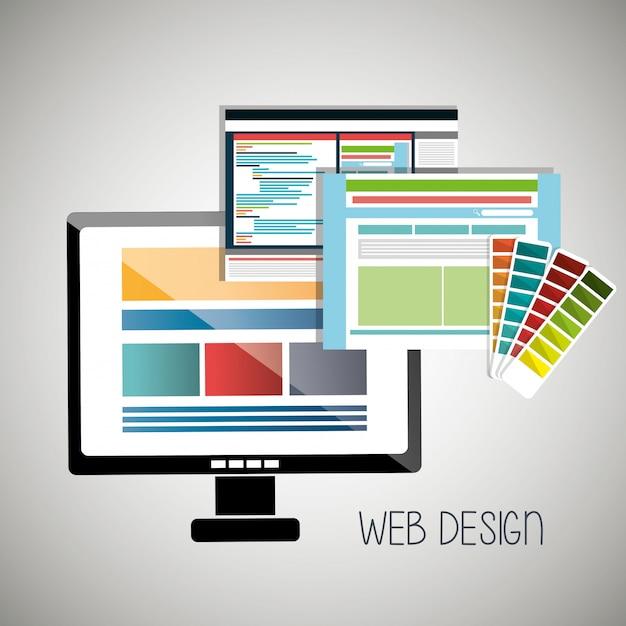 Illustrazione di sviluppo web Vettore Premium