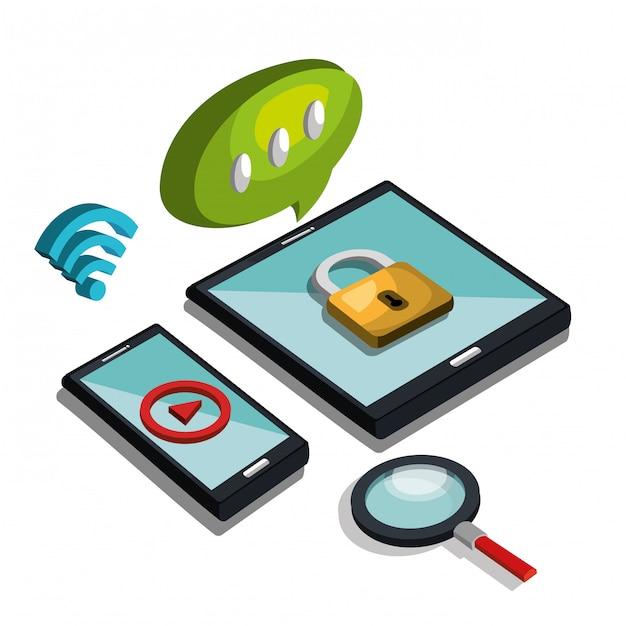 Illustrazione di tecnologia moderna Vettore gratuito