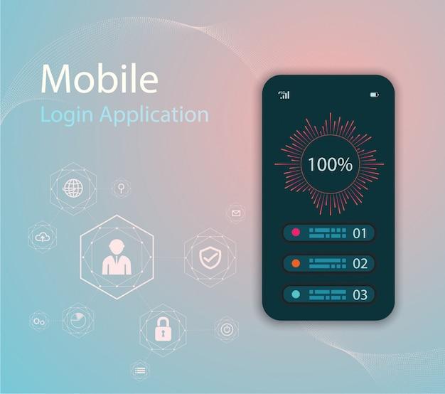 Illustrazione di tecnologia multimediale con telefono cellulare e icone. Vettore Premium