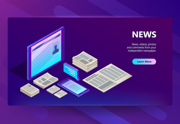 Illustrazione di tecnologia nuova e dei media Vettore gratuito