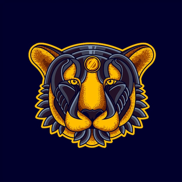 Illustrazione di tiger head Vettore Premium
