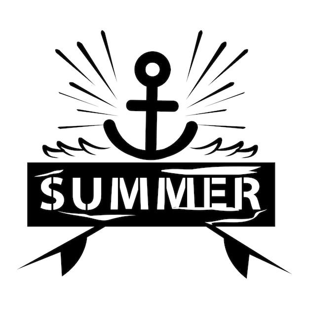Illustrazione di tipografia di estate e vacanze Vettore gratuito