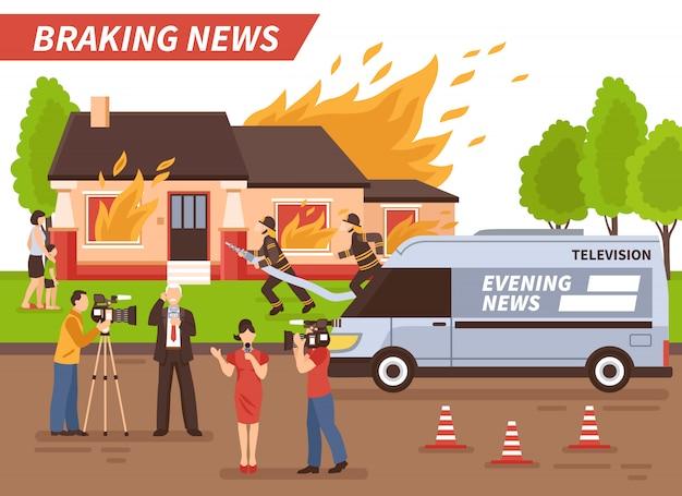 Illustrazione di ultime notizie Vettore gratuito
