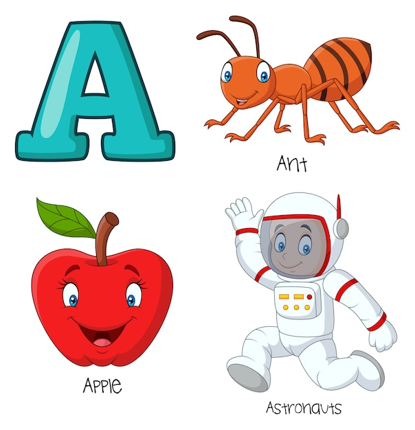 Illustrazione di un alfabeto Vettore Premium