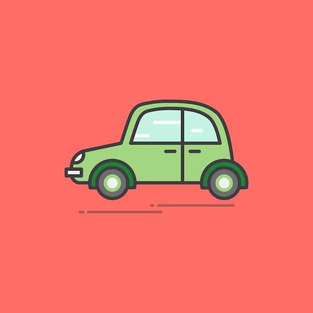 Illustrazione di un'auto d'epoca Vettore gratuito