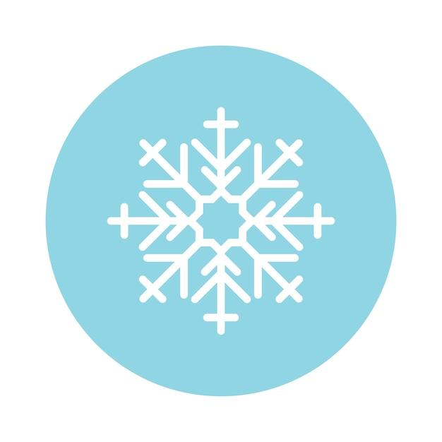 Illustrazione di un simpatico fiocco di neve Vettore gratuito