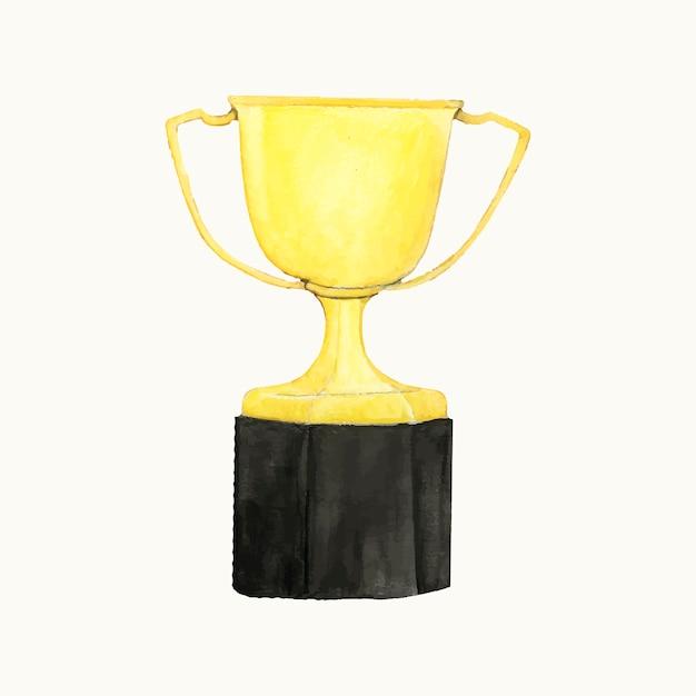 Illustrazione di un trofeo d'oro Vettore gratuito