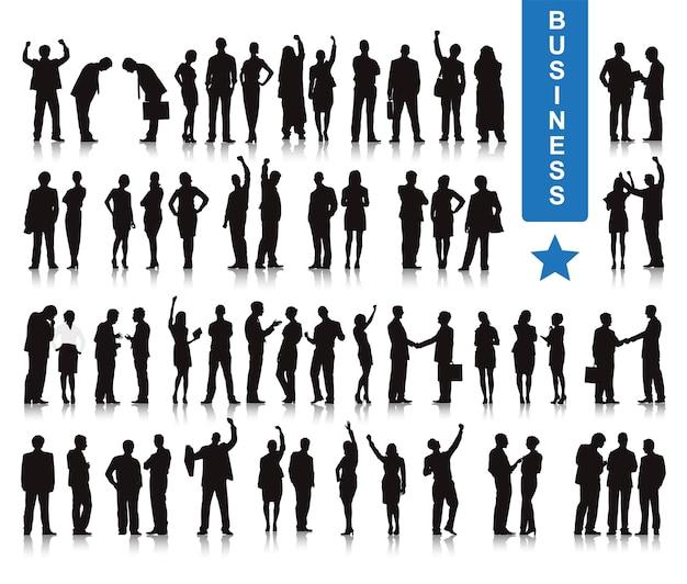Illustrazione di uomini d'affari Vettore gratuito