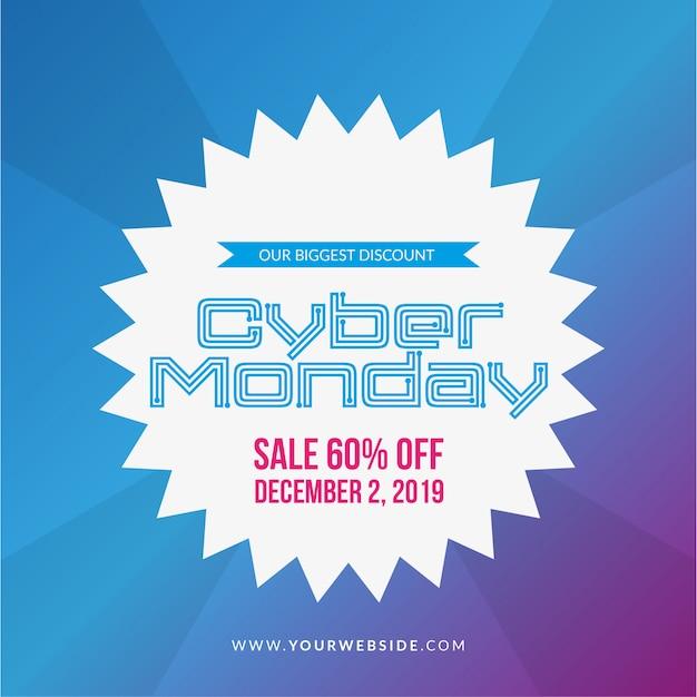 Illustrazione di vendita di cyber lunedì Vettore gratuito