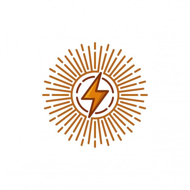 Illustrazione di vettore del modello logo elettrico Vettore Premium