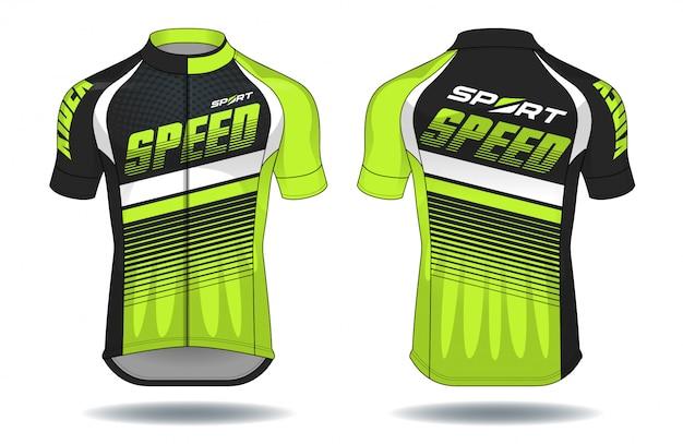 Illustrazione di vettore dell'attrezzatura di protezione di usura di jersey.sport del ciclo. Vettore Premium