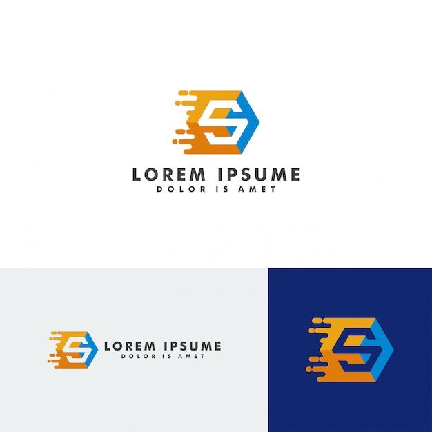 Illustrazione di vettore dell'elemento del modello di logo della lettera di s Vettore Premium