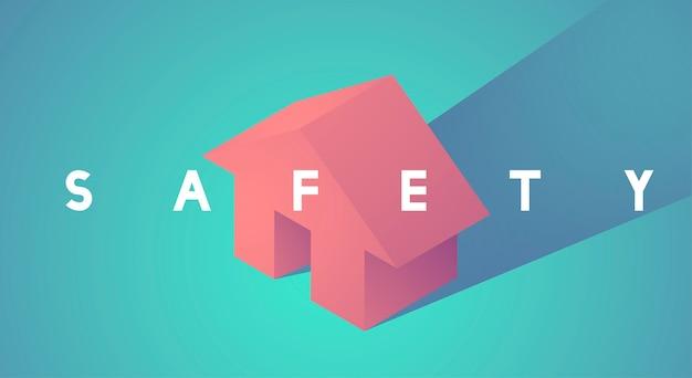 Illustrazione di vettore dell'icona di sicurezza domestica Vettore gratuito