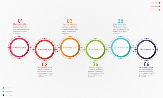 Illustrazione di vettore di affari e istruzione del diagramma Vettore Premium