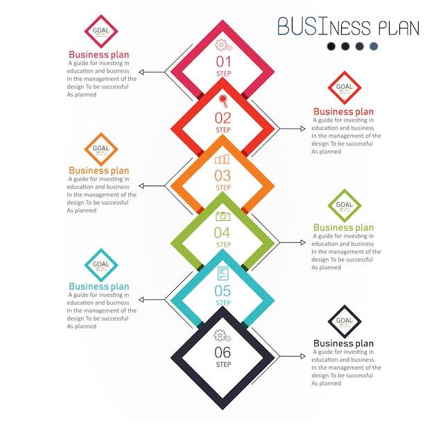 Illustrazione di vettore di affari e istruzione del diagramma. Vettore Premium