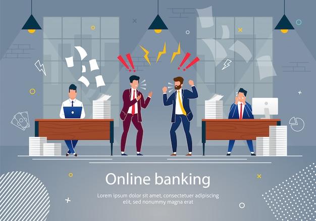 Illustrazione di vettore di concetto di attività bancarie online. Vettore Premium
