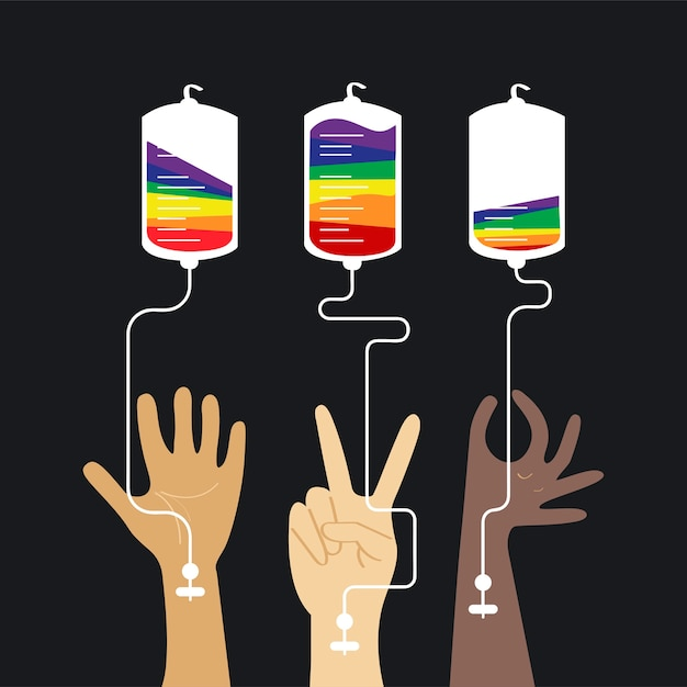 Illustrazione di vettore di concetto di donazione di sangue Vettore gratuito