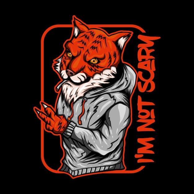 Illustrazione di vettore di fumo di tigre Vettore Premium