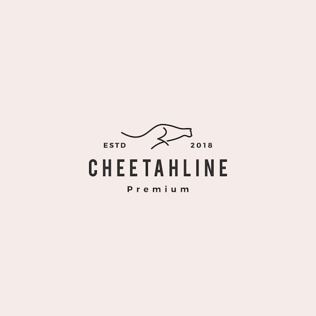 Illustrazione di vettore di logo ghepardo Vettore Premium