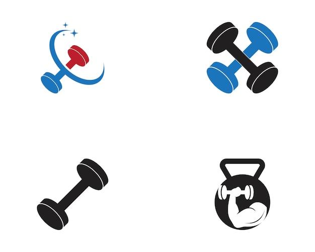 Illustrazione di vettore di palestra fitness sport logo Vettore Premium