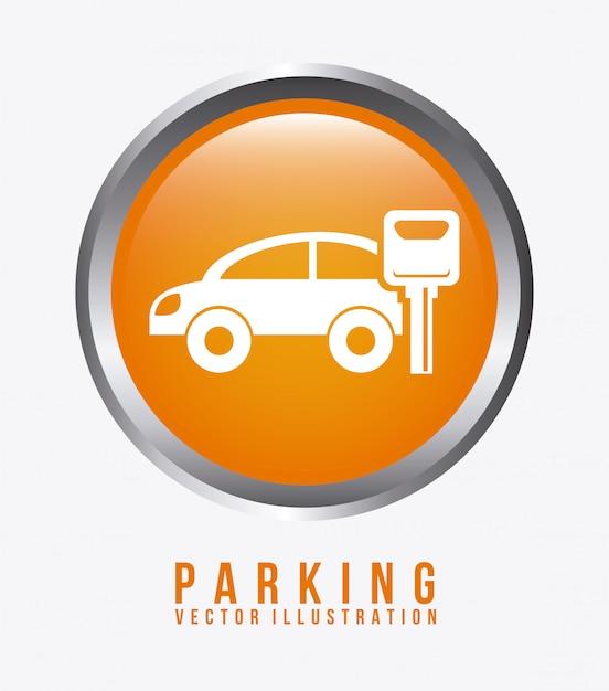Illustrazione di vettore di progettazione grafica di parcheggio Vettore gratuito