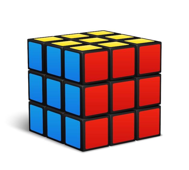 Illustrazione di vettore di puzzle del giocattolo del cubo Vettore Premium