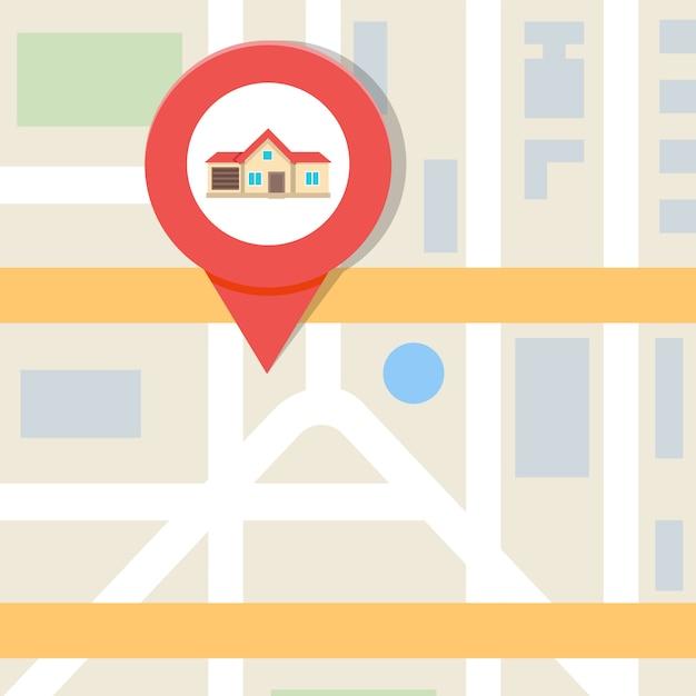 Illustrazione di vettore di ricerca della casa, concetto del bene immobile. Vettore Premium