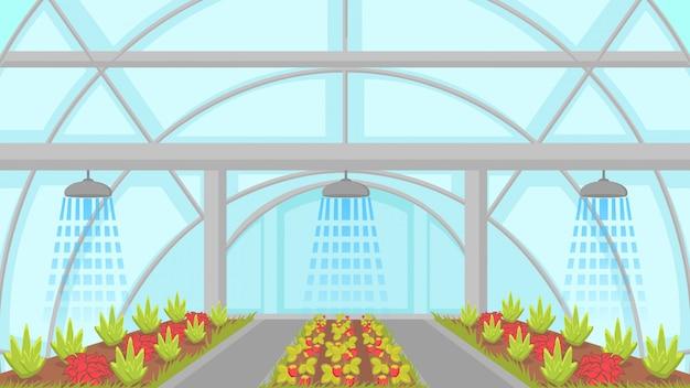 Illustrazione di vettore di sistema agricolo di irrigazione Vettore Premium