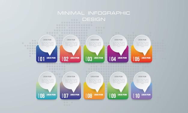 Illustrazione digitale 3d astratta infographic. Vettore Premium