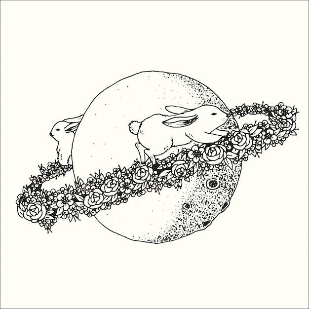 Illustrazione disegnata a mano della raccolta astratta di fantasia di progettazione di arte grafica di scarabocchio. Vettore Premium