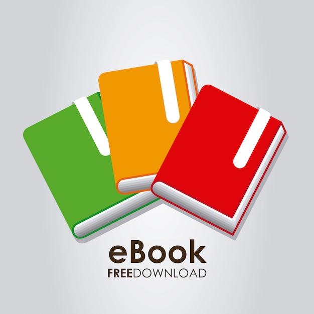 Illustrazione grafica ebook Vettore gratuito